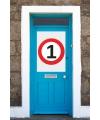 1 jaar verkeersbord deurposter A1